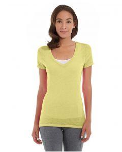 Karissa V-Neck Tee-XL-Yellow